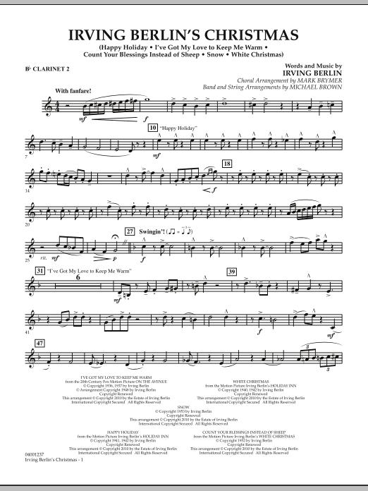 Irving Berlin's Christmas (Medley) - Bb Clarinet 2 (Concert Band)