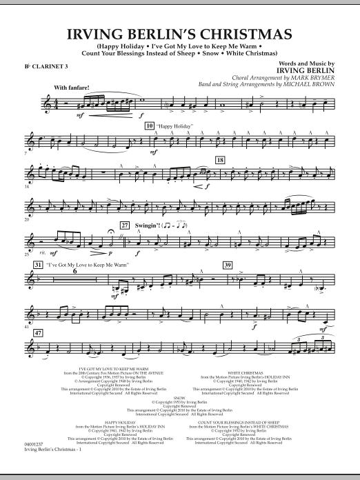 Irving Berlin's Christmas (Medley) - Bb Clarinet 3 (Concert Band)