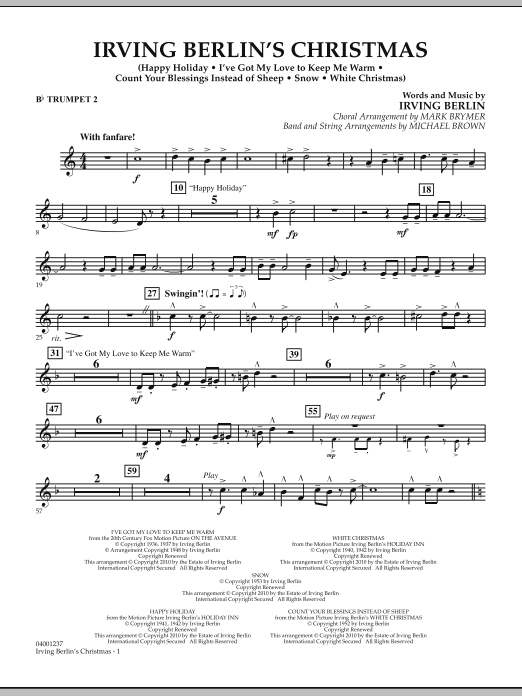 Irving Berlin's Christmas (Medley) - Bb Trumpet 2 (Concert Band)