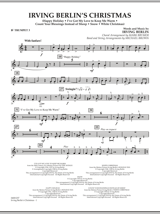 Irving Berlin's Christmas (Medley) - Bb Trumpet 3 (Concert Band)
