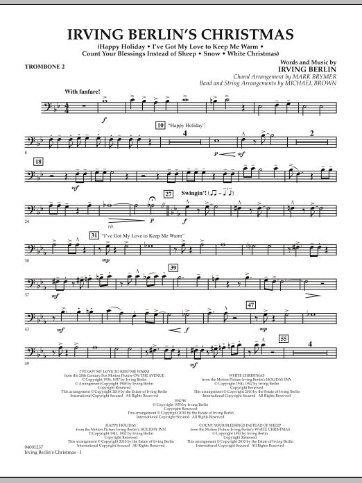 page one of Irving Berlin's Christmas (Medley) - Trombone 2ASALTTEXT