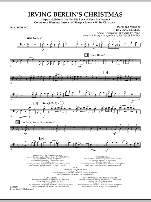 page one of Irving Berlin's Christmas (Medley) - Baritone B.C.ASALTTEXT