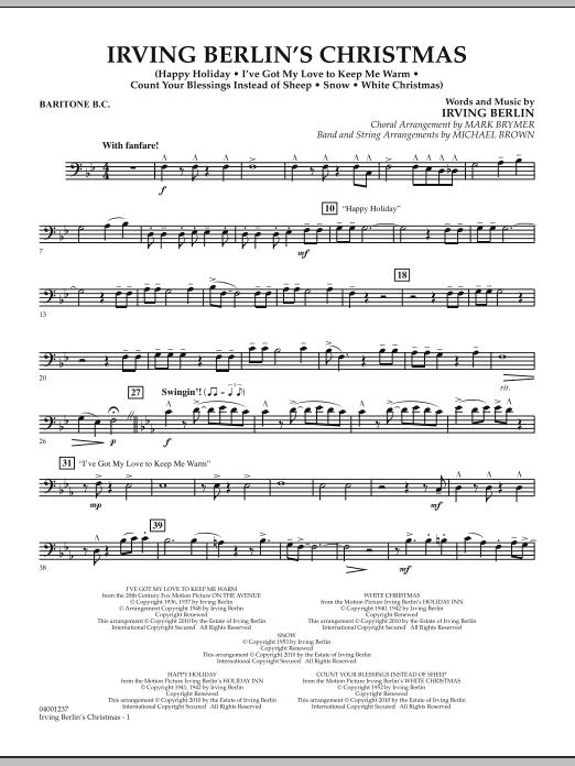 Irving Berlin's Christmas (Medley) - Baritone B.C. (Concert Band)