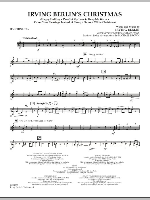 page one of Irving Berlin's Christmas (Medley) - Baritone T.C.ASALTTEXT