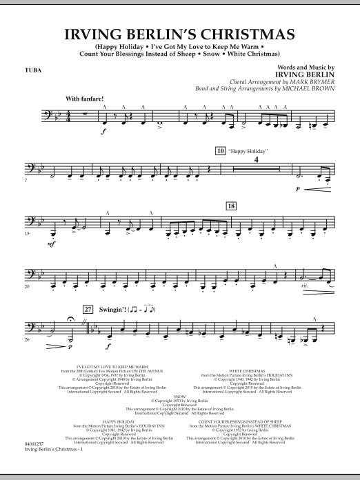 page one of Irving Berlin's Christmas (Medley) - TubaASALTTEXT