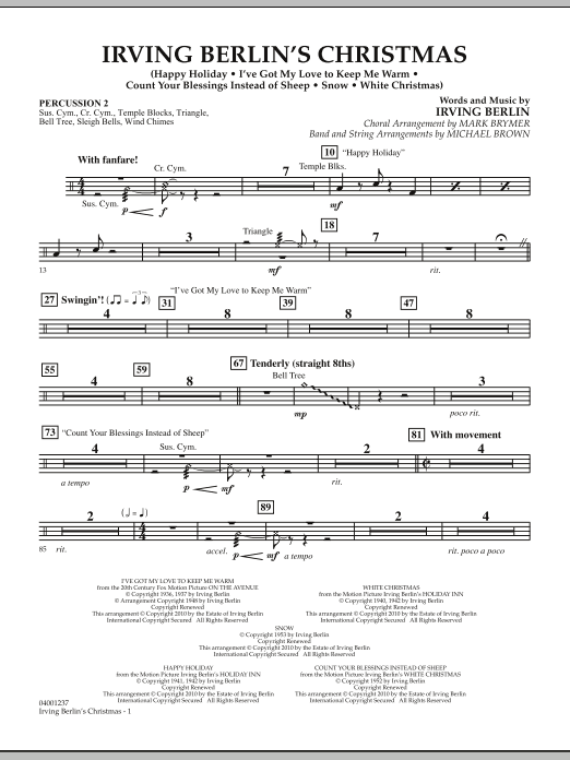 Irving Berlin's Christmas (Medley) - Percussion 2 (Concert Band)