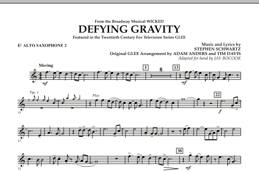 Defying Gravity (from Wicked) - Eb Alto Saxophone 2 (Concert Band)
