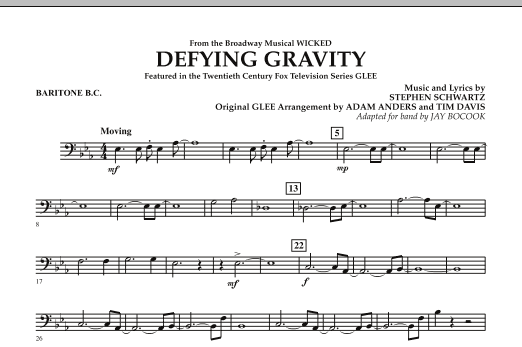 Defying Gravity (from Wicked) - Baritone B.C. (Concert Band)