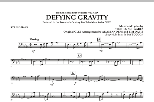 Defying Gravity (from Wicked) - String Bass (Concert Band)