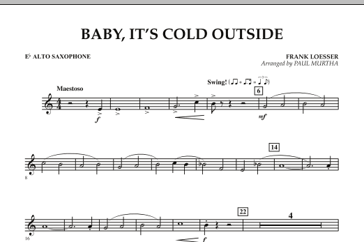 Baby, It's Cold Outside - Eb Alto Saxophone (Concert Band)
