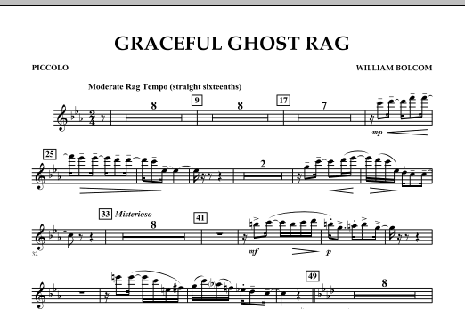 Graceful Ghost Rag - Piccolo (Concert Band)
