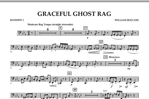 Graceful Ghost Rag - Bassoon 1 (Concert Band)