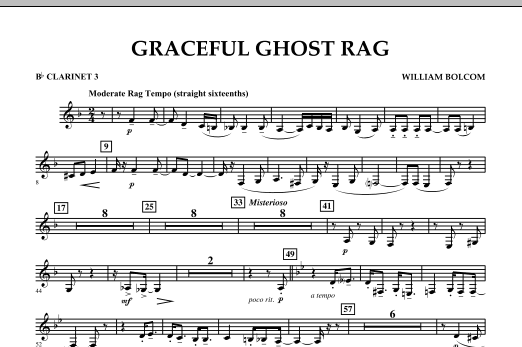 Graceful Ghost Rag - Bb Clarinet 3 (Concert Band)