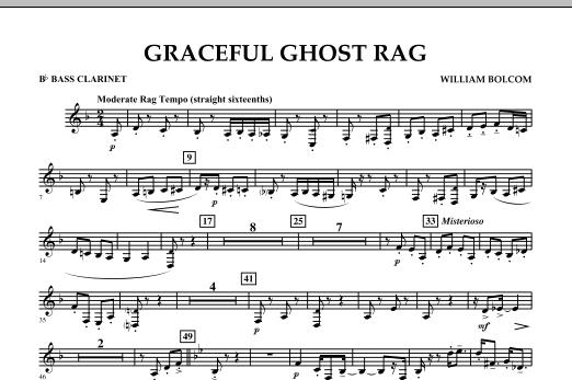 Graceful Ghost Rag - Bb Bass Clarinet (Concert Band)