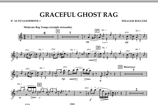 Graceful Ghost Rag - Eb Alto Saxophone 1 (Concert Band)