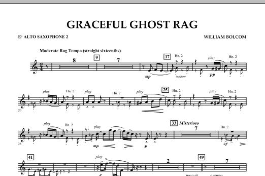 Graceful Ghost Rag - Eb Alto Saxophone 2 (Concert Band)