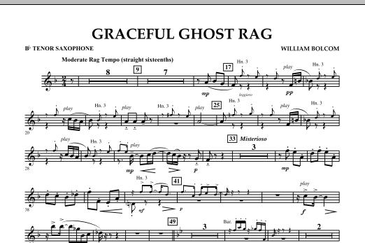 Graceful Ghost Rag - Bb Tenor Saxophone (Concert Band)