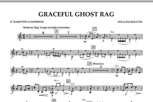 Graceful Ghost Rag - Eb Baritone Saxophone (Concert Band)