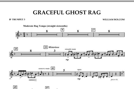 Graceful Ghost Rag - Bb Trumpet 3 (Concert Band)