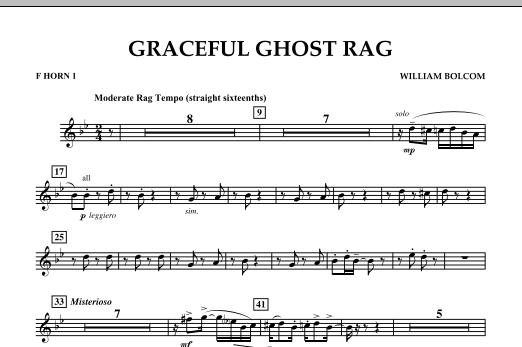 Graceful Ghost Rag - F Horn 1 (Concert Band)
