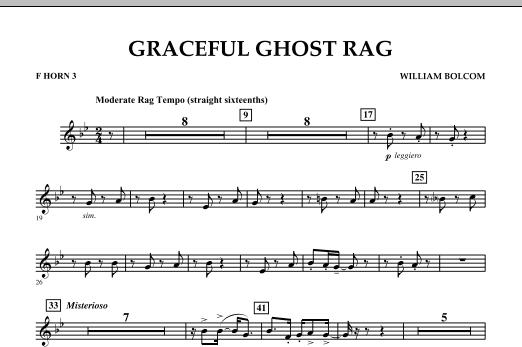 Graceful Ghost Rag - F Horn 3 (Concert Band)