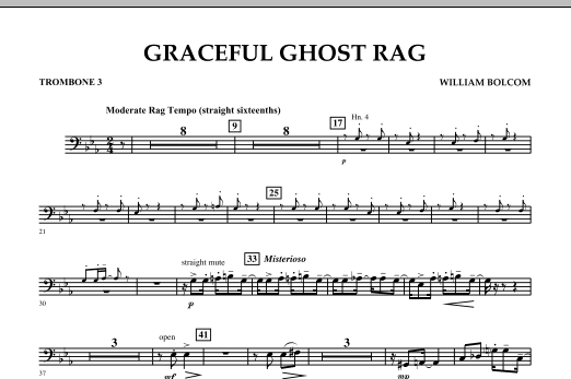 Graceful Ghost Rag - Trombone 3 (Concert Band)