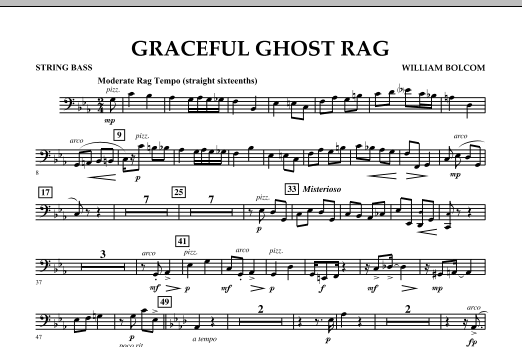 Graceful Ghost Rag - String Bass (Concert Band)
