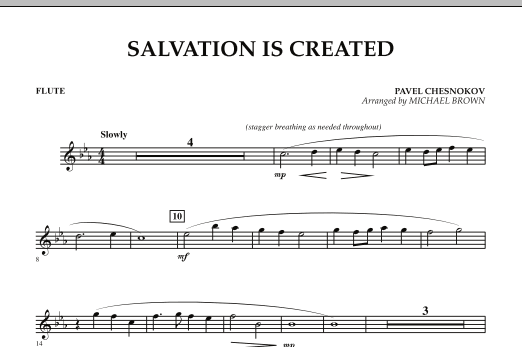 Salvation Is Created - Flute (Concert Band)