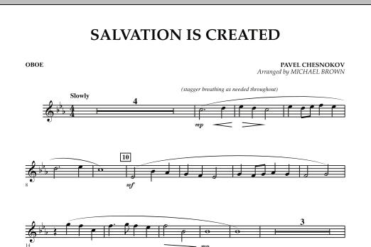 Salvation Is Created - Oboe (Concert Band)