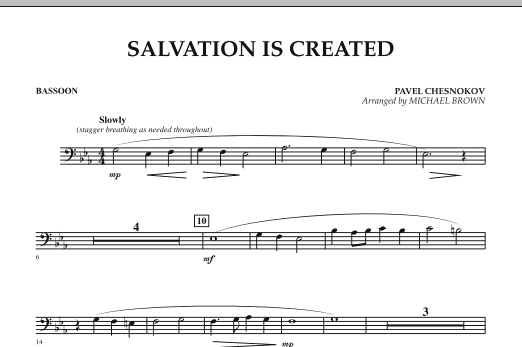Salvation Is Created - Bassoon (Concert Band)