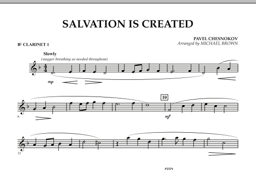 Salvation Is Created - Bb Clarinet 1 (Concert Band)