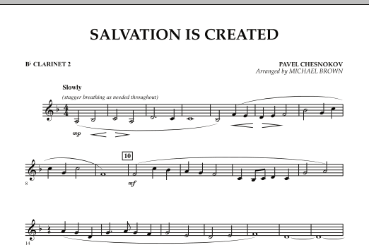 Salvation Is Created - Bb Clarinet 2 (Concert Band)