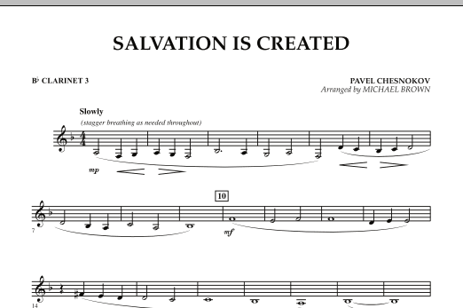 Salvation Is Created - Bb Clarinet 3 (Concert Band)