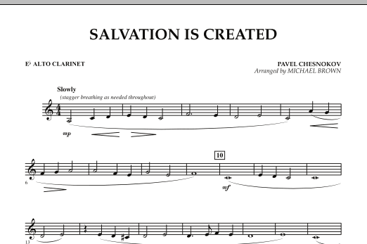 Salvation Is Created - Eb Alto Clarinet (Concert Band)