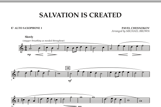 Salvation Is Created - Eb Alto Saxophone 1 (Concert Band)