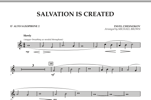 Salvation Is Created - Eb Alto Saxophone 2 (Concert Band)
