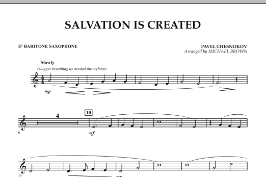 Salvation Is Created - Eb Baritone Saxophone (Concert Band)