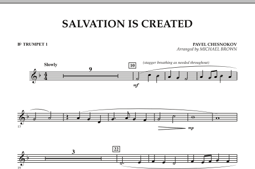 Salvation Is Created - Bb Trumpet 1 (Concert Band)
