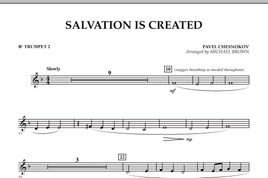 Salvation Is Created - Bb Trumpet 2 (Concert Band)