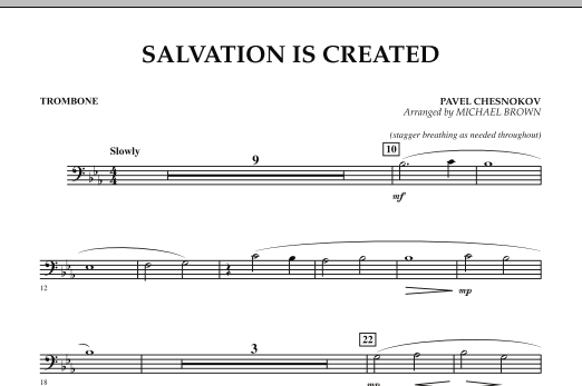 Salvation Is Created - Trombone (Concert Band)