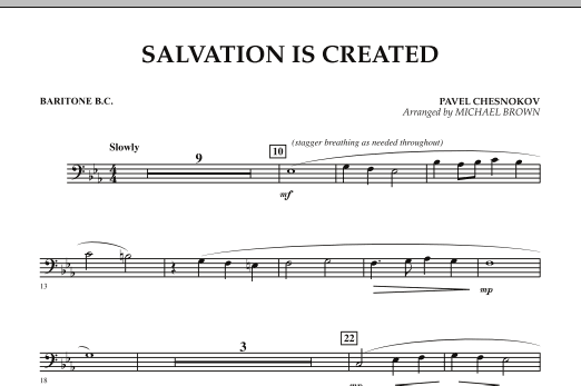 Salvation Is Created - Baritone B.C. (Concert Band)