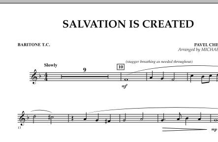 Salvation Is Created - Baritone T.C. (Concert Band)