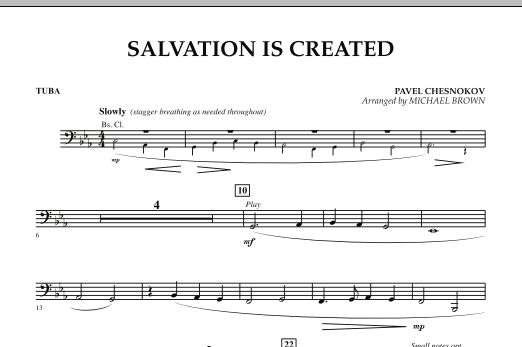 Salvation Is Created - Tuba (Concert Band)