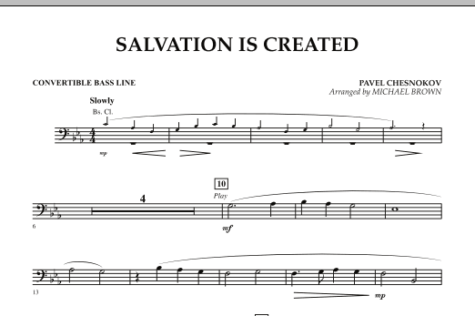 Salvation Is Created - Convertible Bass Line (Concert Band)