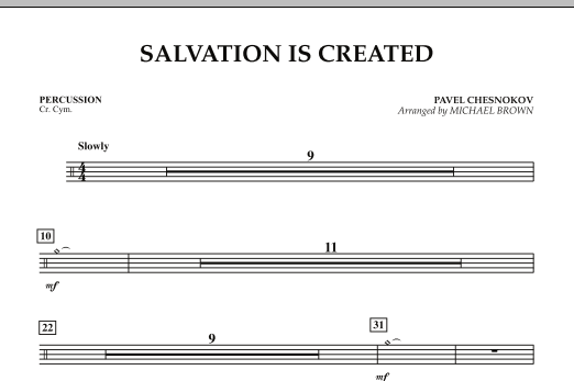 Salvation Is Created - Percussion (Concert Band)