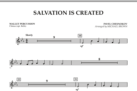 Salvation Is Created - Mallet Percussion (Concert Band)