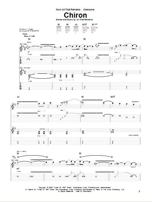 Chiron Sheet Music