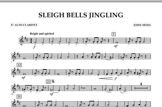 Sleigh Bells Jingling - Eb Alto Clarinet (Concert Band)