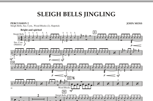 Sleigh Bells Jingling - Percussion 2 (Concert Band)