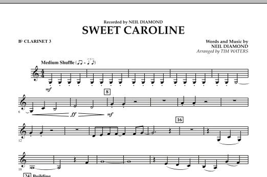 Sweet Caroline - Bb Clarinet 3 (Concert Band)